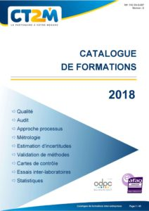 thumbnail of Catalogue de formations CT2M 2018