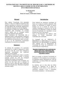 thumbnail of 2007_L'estimation de l'incertitude de mesure par la méthode de Monte-Carlo comme outil d'optimisation d'un processus d'essai