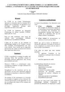 thumbnail of 2009_L'accompagnement des laboratoires à l'accréditation COFRAC, l'expérience d'un Centre Technologique spécialisé en Métrologie