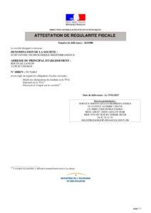 thumbnail of Attestation régularité fiscale