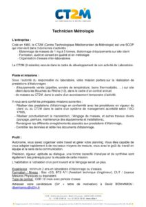 thumbnail of Embauche technicien métrologie en laboratoire_v5