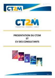 thumbnail of Présentation du CT2M et CV des consultants_v0